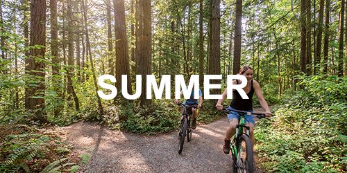 summertime mountain biking