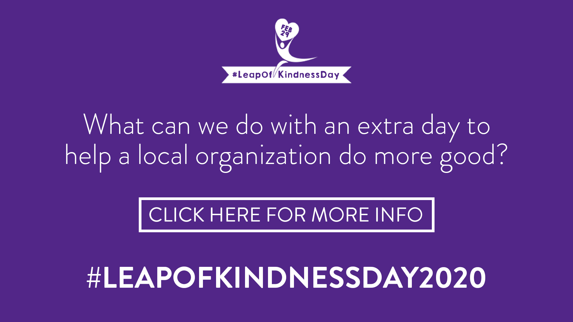 Leap of Kindness Day 2020