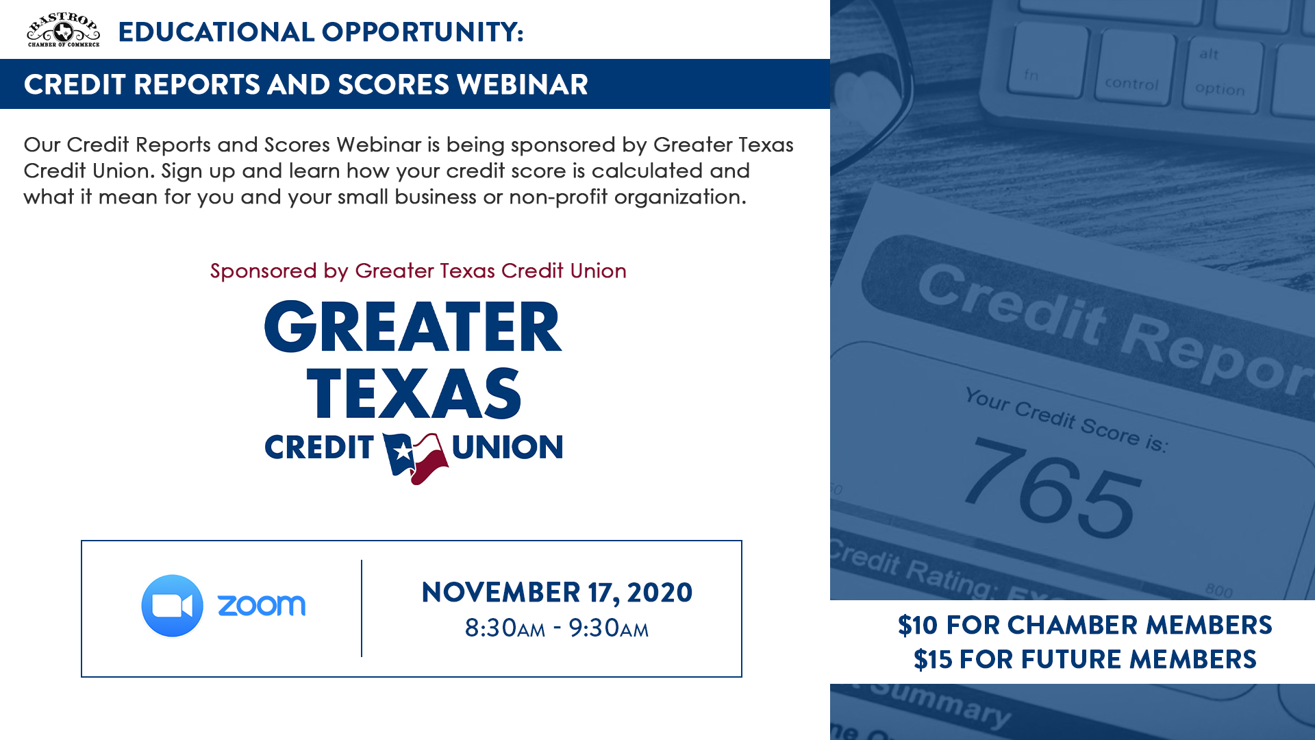 Credit Reports and Scores Webinar