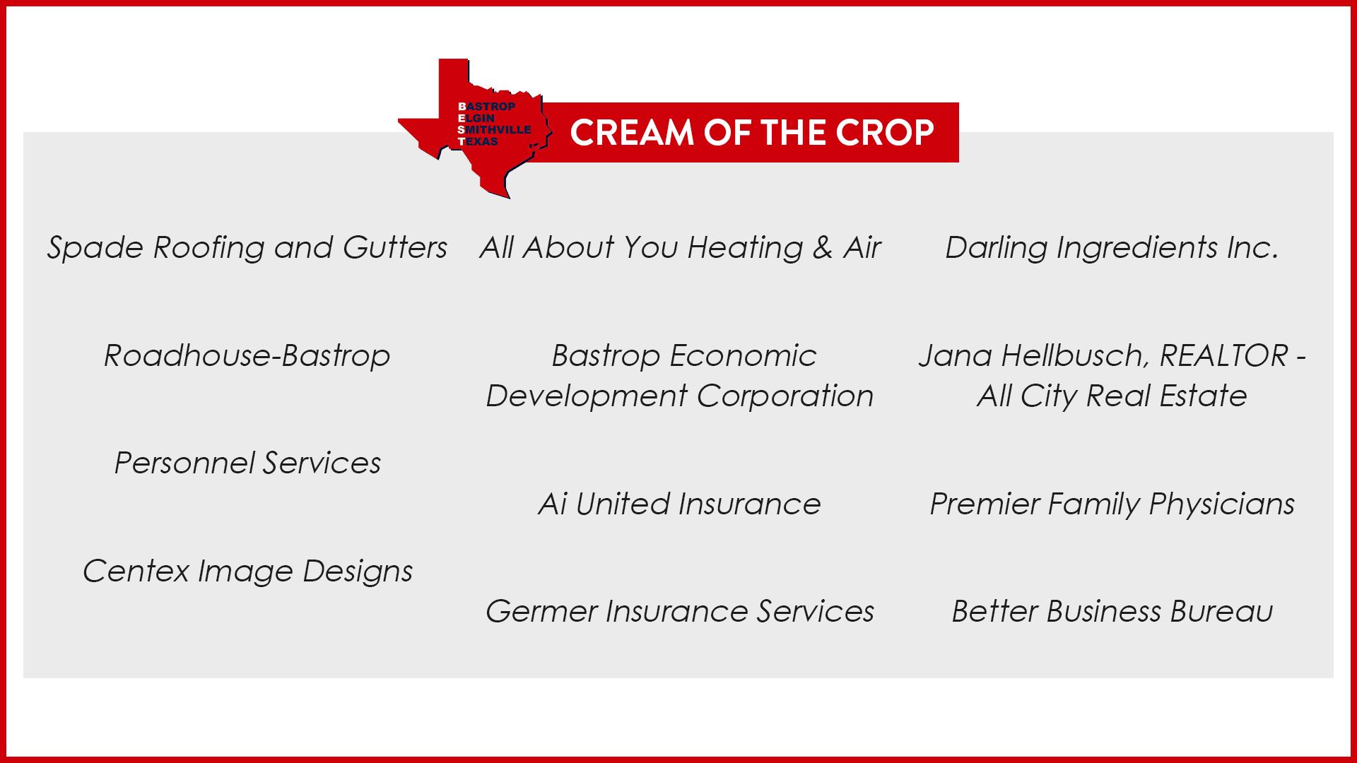 BEST Cream of the Crop