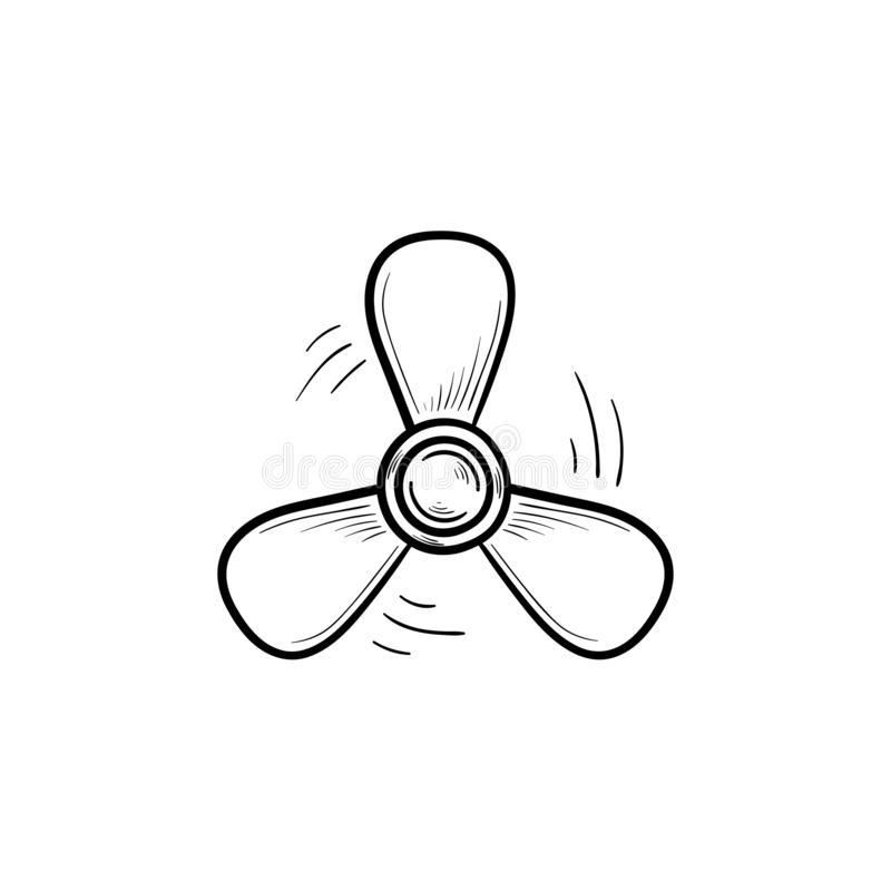 boat-propeller-hand-drawn-