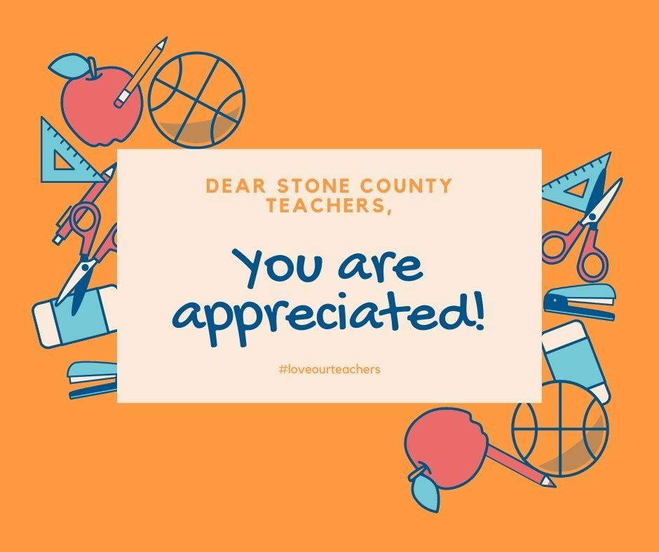 Orange Illustration Teacher Appreciation Facebook Post
