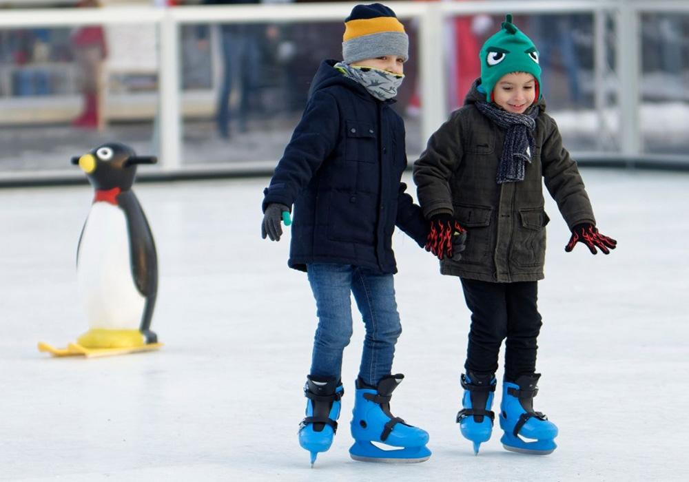Tracks ice skateing