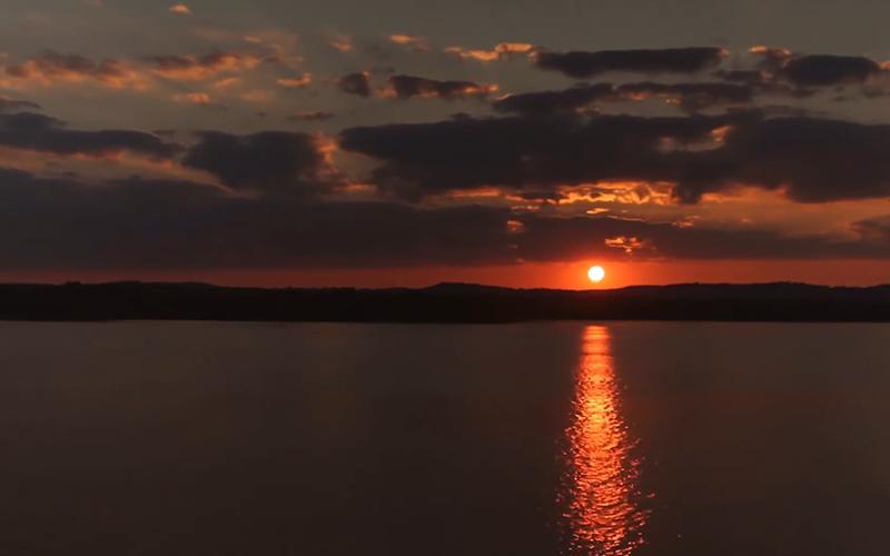 table rock lake sunset