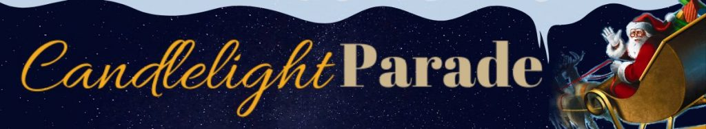 Candlelight parade banner