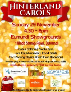 2020 Hinterland Carols Event Sunday 29th November