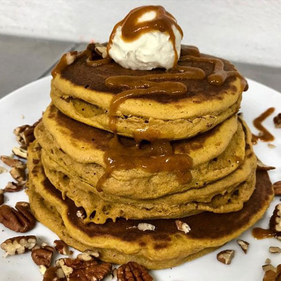 Stack of Pancakes at Fork and Spoon Lemont