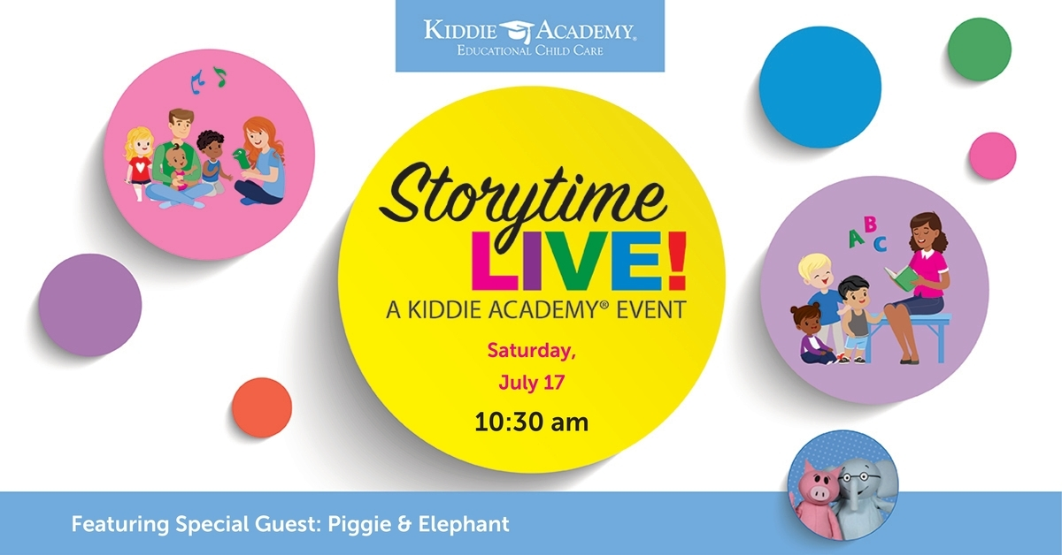 Graphic for Storytime Live at Kiddie Academy of Lemont's Grand Opening