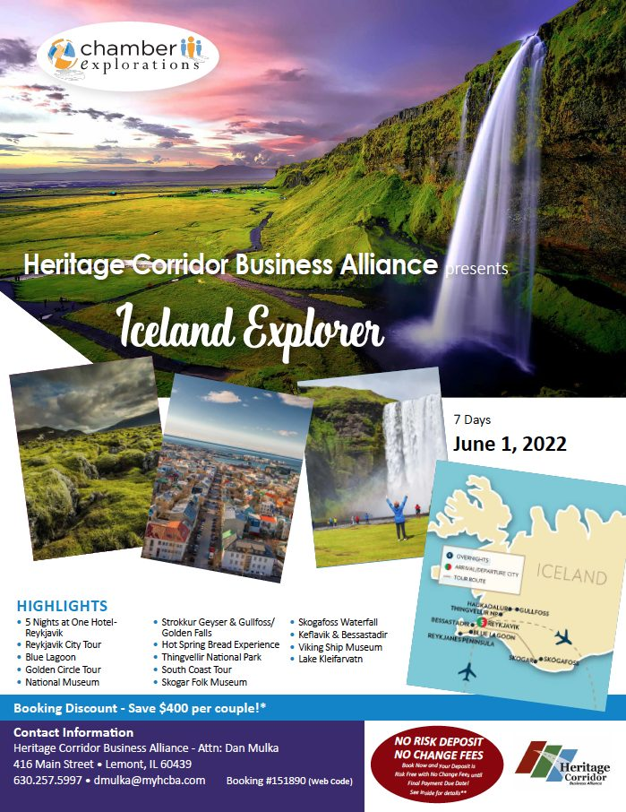 Flier for Iceland Trip