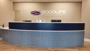 Front Desk at GoodLife Physical Therapy in Homer Glen, IL