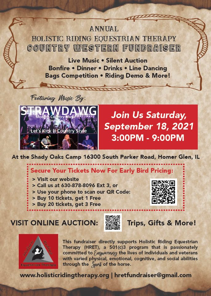 Graphic advertising HRET's Country Western Fundraiser