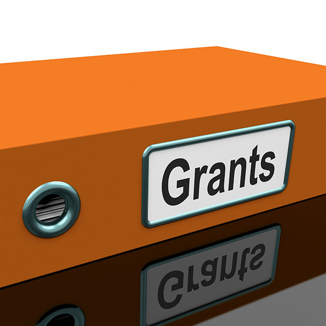 Graphic - File box labelled Grants