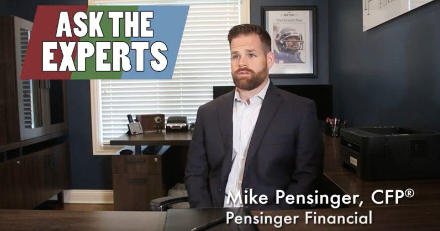 Screen grab from video of Mike Pensinger