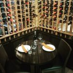 Private dining table in our wine cellar!
