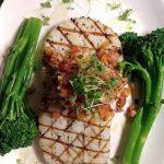 Wood-fired calamari steak + sauteed broccolini + Mediterranean olive tapenade + micro basil