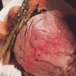 Smoked prime rib + wood fired asparagus + gochujang fingerling potatoes + horseradish espuma
