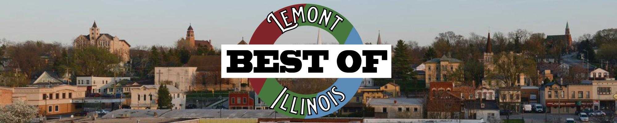 Skyline of Lemont, with Best of Lemont logo on front