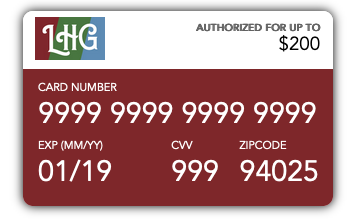 LHG E-Card with fake numbers