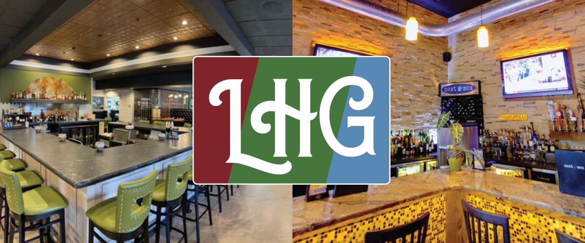 LHG logo with pictures of Next Mex and The Phoenix in the background